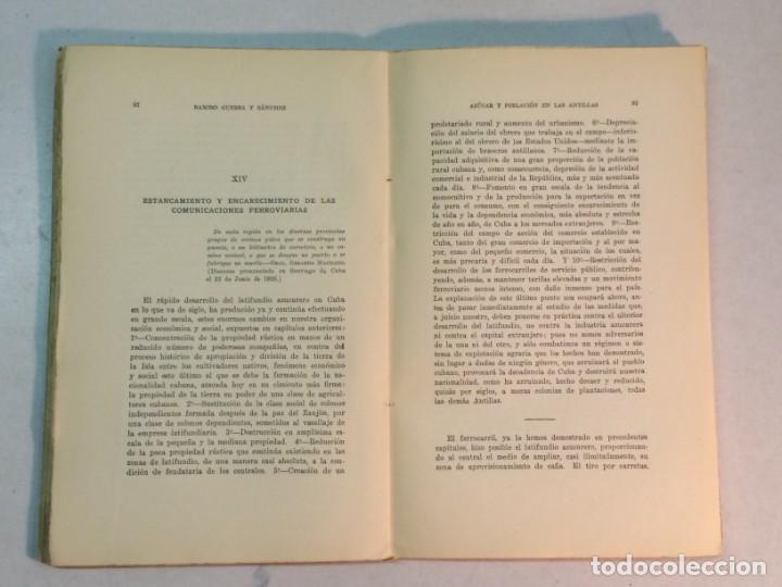 Libros antiguos: Ramiro Guerra y Sánchez: Azúcar y Población en las Antillas (1927) - Foto 5 - 217958473