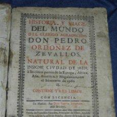 Libros antiguos: (MF) PEDRO ORDOÑEZ DE CEBALLOS - HISTORIA Y VIAGE DEL MUNDO DEL CLERIGO, CIUDAD JAEN, FILIPINAS 1691. Lote 218570947