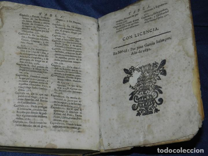 Libros antiguos: (MF) PEDRO ORDOÑEZ DE CEBALLOS - HISTORIA Y VIAGE DEL MUNDO DEL CLERIGO, CIUDAD JAEN, FILIPINAS 1691 - Foto 13 - 218570947