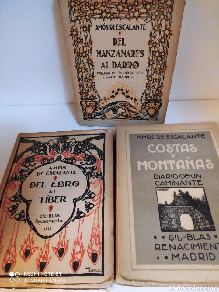 AMÓS DE ESCALANTE. DEL EBRO AL TÍBER, DEL MANZANARES AL DARRO Y COSTAS Y MONTAÑAS (Libros Antiguos, Raros y Curiosos - Geografía y Viajes)