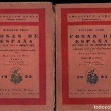 Libros antiguos: RICARDO FORD : COSAS DE ESPAÑA - DOS TOMOS (CARO RAGGIO, 1922) PRIMERA EDICIÓN EN ESPAÑOL. Lote 218729648