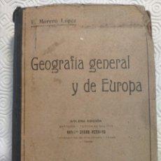 Libros antiguos: GEOGRAFIA GENERAL Y DE EUROPA. FUNDAMENTOS DE LA GEOGRAFIA. ENSAYO DE UN COMPENDIO CIENTIFICO DE GEO. Lote 218867612