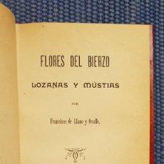 Libros antiguos: LLANO Y OVALLE, FRANCISCO DE: FLORES DEL BIERZO. LOZANAS Y MUSTIAS. Lote 218976771