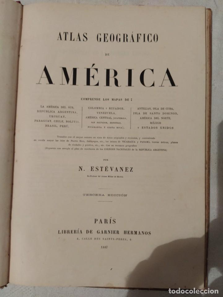 ATLAS GEOGRÁFICO DE AMÉRICA - N. ESTÉVANEZ (Libros Antiguos, Raros y Curiosos - Geografía y Viajes)
