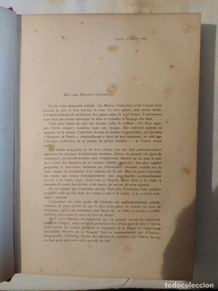 Libros antiguos: La Marine d'Autrefois - Georges Contesse - Foto 4 - 219000447