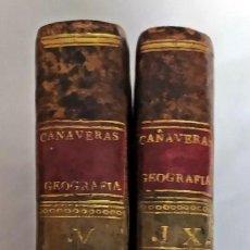 Libros antiguos: AÑO 1793-94. GEOGRAFÍA, POR CAÑAVERAS. 2 TOMOS EN ESPAÑOL DEL SIGLO XVIII.. Lote 219284097