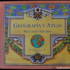 Libros antiguos: GEOGRAFIA Y ATLAS - SEGUNDO GRADO - EDITORIAL F.T.D. BARCELONA -. Lote 219289517