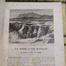 Libros antiguos: 1886. LA TIERRA A VISTA DE PÁJARO. ONÉSIMO RECLUS. ILUSTRADO.. Lote 219513467