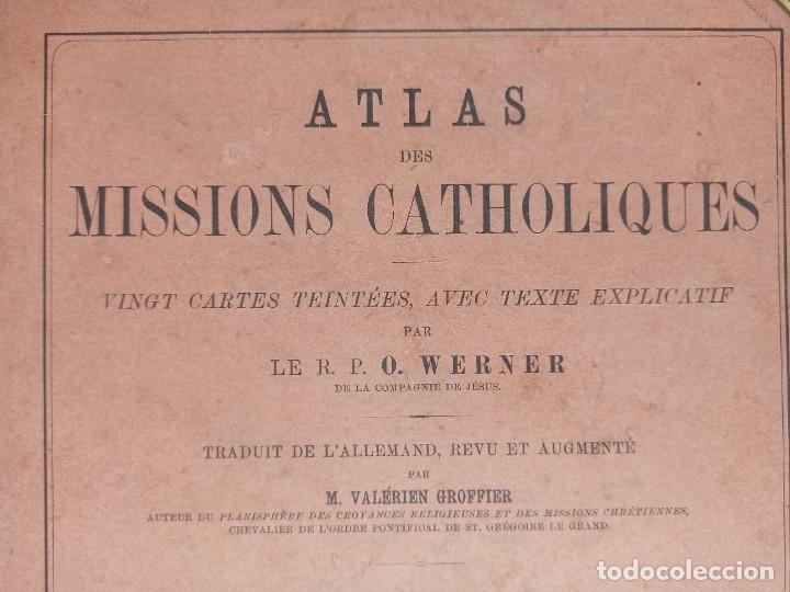 Libros antiguos: ESPLÉNDIDO ATLAS MISIONES CATÓLICAS, WERNER, LYON, 1886, 20 MAPAS Y TABLAS INGENTE INFORMACIÓN - Foto 5 - 220966268