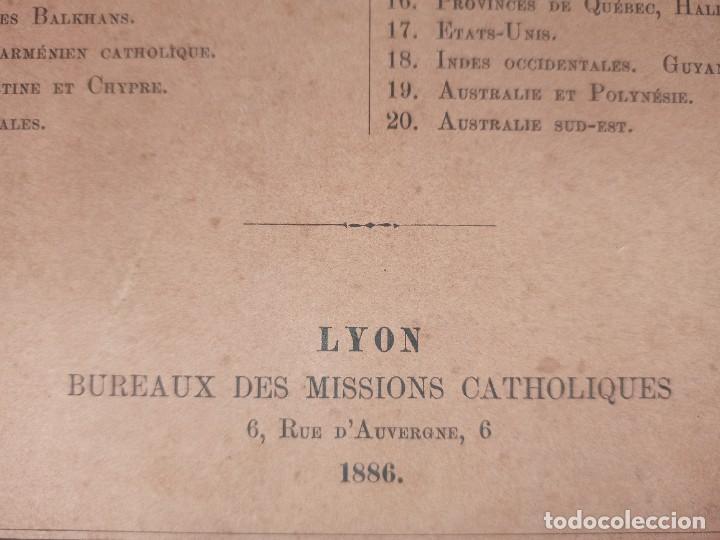 Libros antiguos: ESPLÉNDIDO ATLAS MISIONES CATÓLICAS, WERNER, LYON, 1886, 20 MAPAS Y TABLAS INGENTE INFORMACIÓN - Foto 7 - 220966268