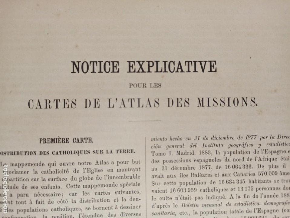 Libros antiguos: ESPLÉNDIDO ATLAS MISIONES CATÓLICAS, WERNER, LYON, 1886, 20 MAPAS Y TABLAS INGENTE INFORMACIÓN - Foto 12 - 220966268