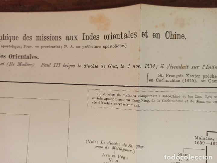 Libros antiguos: ESPLÉNDIDO ATLAS MISIONES CATÓLICAS, WERNER, LYON, 1886, 20 MAPAS Y TABLAS INGENTE INFORMACIÓN - Foto 16 - 220966268