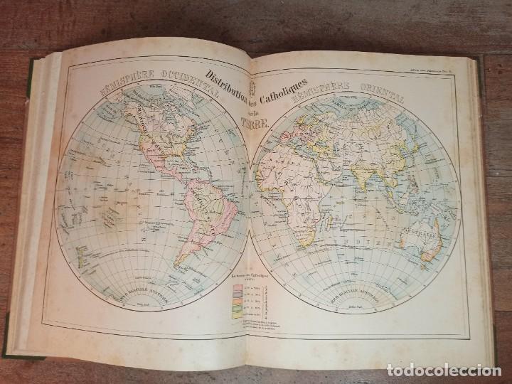 Libros antiguos: ESPLÉNDIDO ATLAS MISIONES CATÓLICAS, WERNER, LYON, 1886, 20 MAPAS Y TABLAS INGENTE INFORMACIÓN - Foto 18 - 220966268