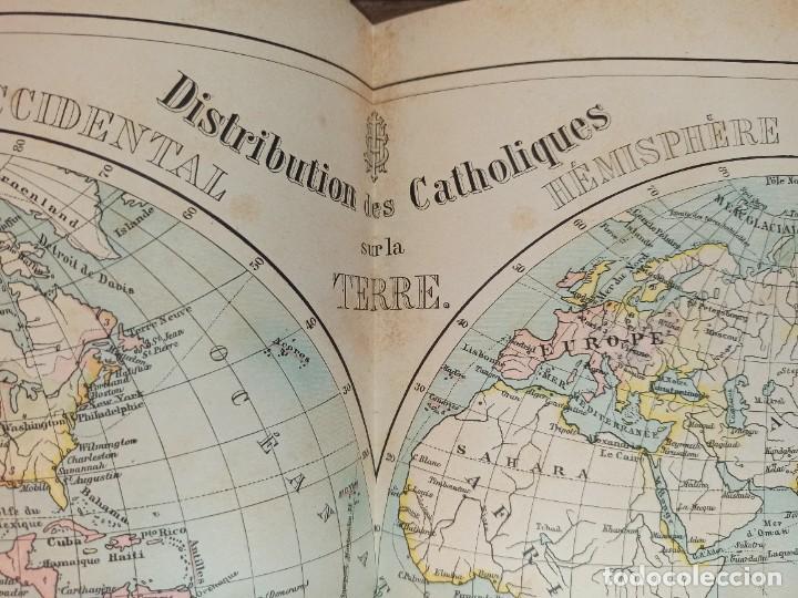 Libros antiguos: ESPLÉNDIDO ATLAS MISIONES CATÓLICAS, WERNER, LYON, 1886, 20 MAPAS Y TABLAS INGENTE INFORMACIÓN - Foto 19 - 220966268