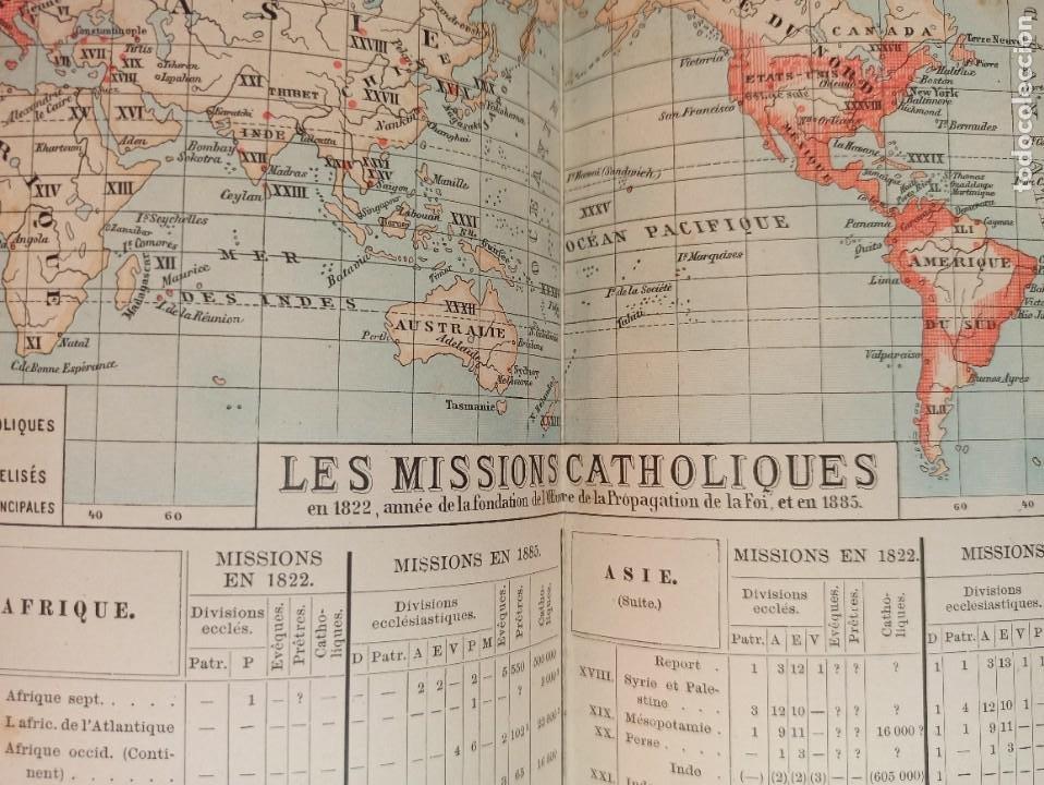 Libros antiguos: ESPLÉNDIDO ATLAS MISIONES CATÓLICAS, WERNER, LYON, 1886, 20 MAPAS Y TABLAS INGENTE INFORMACIÓN - Foto 21 - 220966268