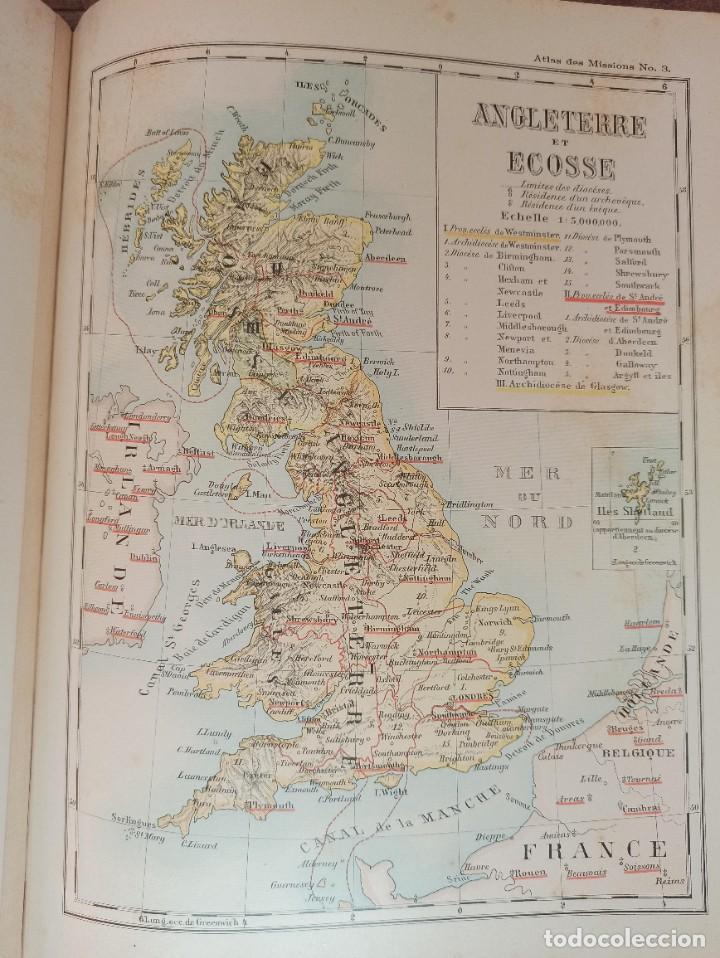 Libros antiguos: ESPLÉNDIDO ATLAS MISIONES CATÓLICAS, WERNER, LYON, 1886, 20 MAPAS Y TABLAS INGENTE INFORMACIÓN - Foto 22 - 220966268