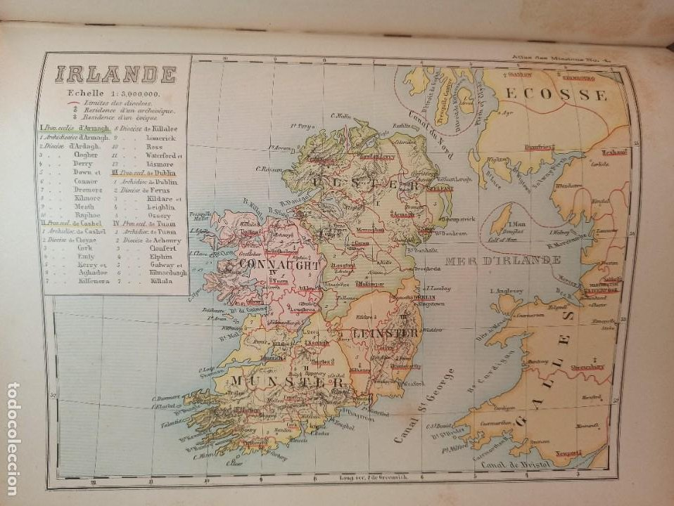 Libros antiguos: ESPLÉNDIDO ATLAS MISIONES CATÓLICAS, WERNER, LYON, 1886, 20 MAPAS Y TABLAS INGENTE INFORMACIÓN - Foto 23 - 220966268