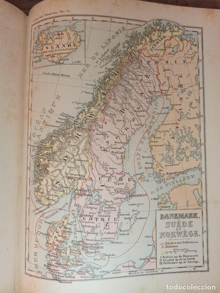 Libros antiguos: ESPLÉNDIDO ATLAS MISIONES CATÓLICAS, WERNER, LYON, 1886, 20 MAPAS Y TABLAS INGENTE INFORMACIÓN - Foto 24 - 220966268