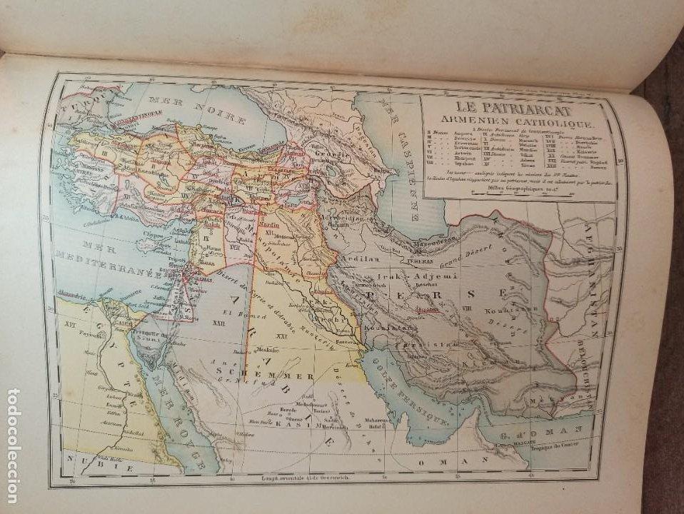 Libros antiguos: ESPLÉNDIDO ATLAS MISIONES CATÓLICAS, WERNER, LYON, 1886, 20 MAPAS Y TABLAS INGENTE INFORMACIÓN - Foto 26 - 220966268