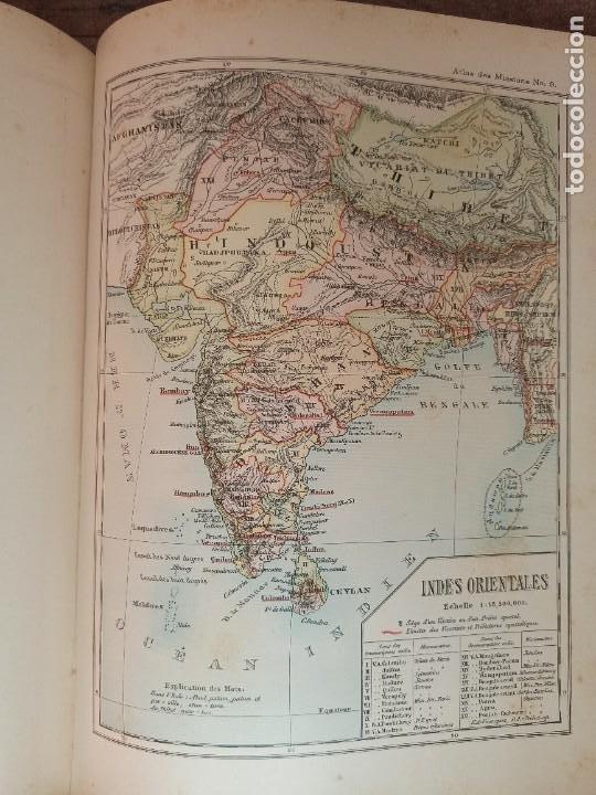 Libros antiguos: ESPLÉNDIDO ATLAS MISIONES CATÓLICAS, WERNER, LYON, 1886, 20 MAPAS Y TABLAS INGENTE INFORMACIÓN - Foto 28 - 220966268