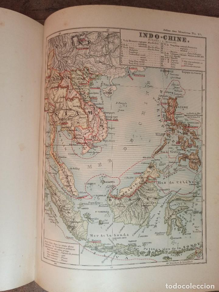 Libros antiguos: ESPLÉNDIDO ATLAS MISIONES CATÓLICAS, WERNER, LYON, 1886, 20 MAPAS Y TABLAS INGENTE INFORMACIÓN - Foto 29 - 220966268