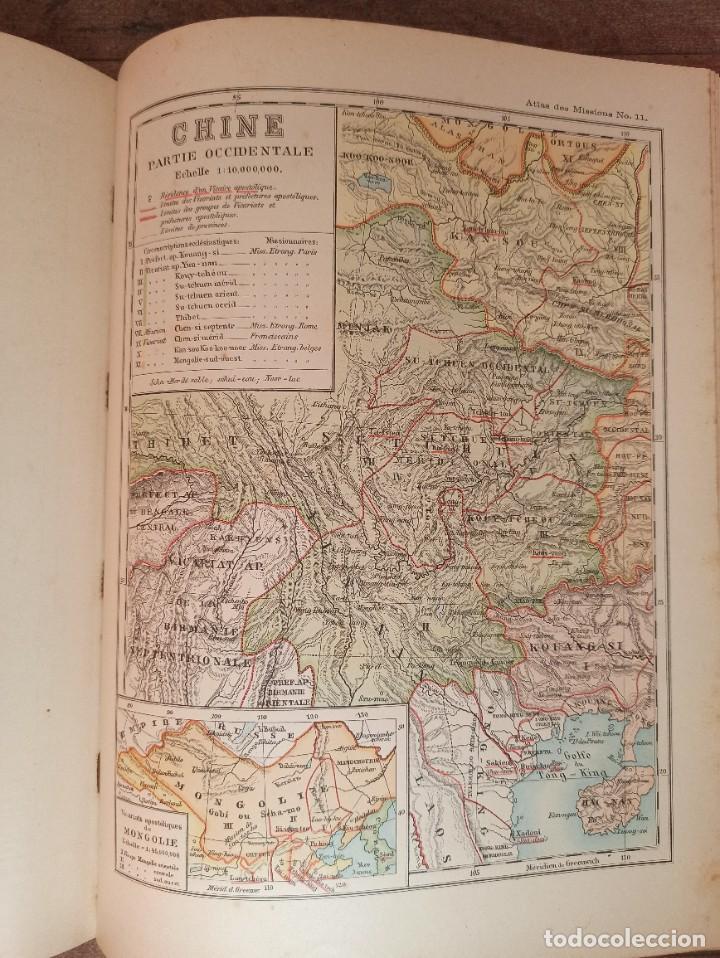 Libros antiguos: ESPLÉNDIDO ATLAS MISIONES CATÓLICAS, WERNER, LYON, 1886, 20 MAPAS Y TABLAS INGENTE INFORMACIÓN - Foto 30 - 220966268