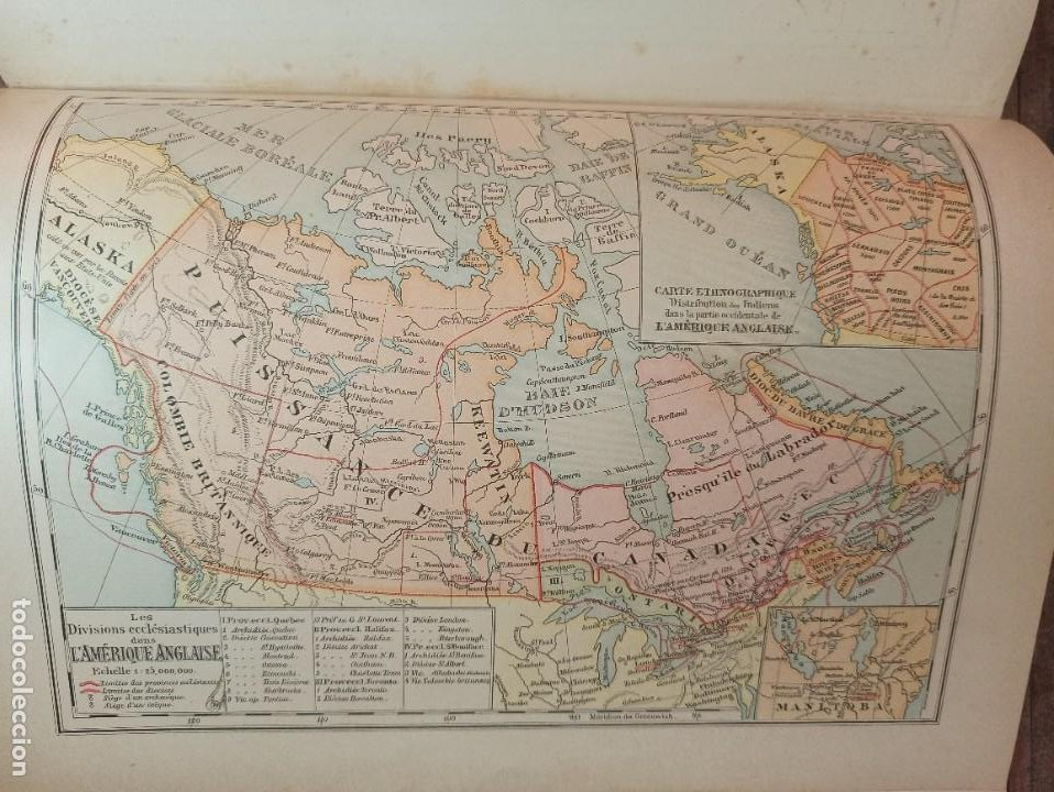 Libros antiguos: ESPLÉNDIDO ATLAS MISIONES CATÓLICAS, WERNER, LYON, 1886, 20 MAPAS Y TABLAS INGENTE INFORMACIÓN - Foto 34 - 220966268