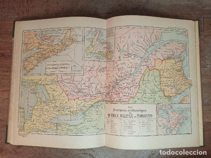 Libros antiguos: ESPLÉNDIDO ATLAS MISIONES CATÓLICAS, WERNER, LYON, 1886, 20 MAPAS Y TABLAS INGENTE INFORMACIÓN - Foto 35 - 220966268