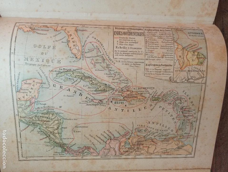 Libros antiguos: ESPLÉNDIDO ATLAS MISIONES CATÓLICAS, WERNER, LYON, 1886, 20 MAPAS Y TABLAS INGENTE INFORMACIÓN - Foto 37 - 220966268
