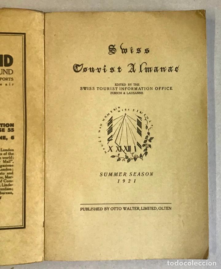 Libros antiguos: SWISS TOURIST ALAMANAC. Summer season 1921. SUIZA. - Foto 2 - 222043730