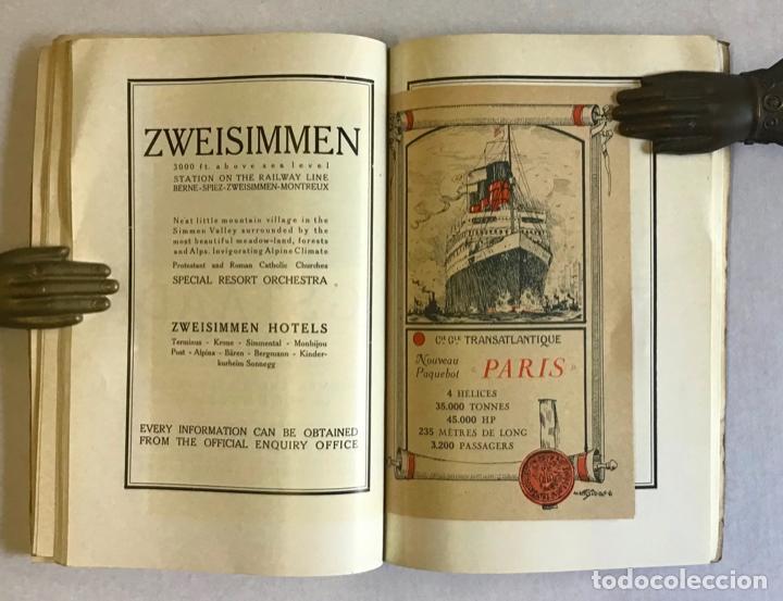 Libros antiguos: SWISS TOURIST ALAMANAC. Summer season 1921. SUIZA. - Foto 5 - 222043730