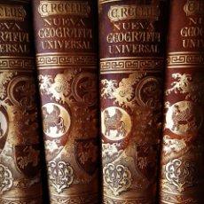 Libros antiguos: 7 TOMOS NUEVA GEOGRAFÍA UNIVERSAL. ELISEO RECLÚS. EDITORIAL EL PROGRESO, MADRID, 1890. Lote 222129098