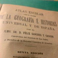Libros antiguos: ATLAS ESCOLAR PARA EL ESTUDIO DE LA GEOGRAFÍA E HISTORIA, 1906. Lote 222365503