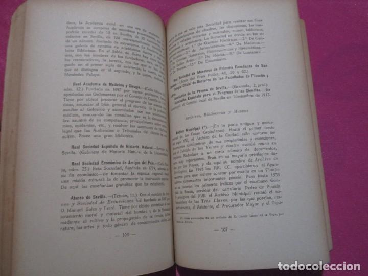 Libros antiguos: GUIA DE SEVILLA DEDICADA A LOS CONGRESISTAS POR EL COMITE CENTRAL 1917 - Foto 5 - 222400177
