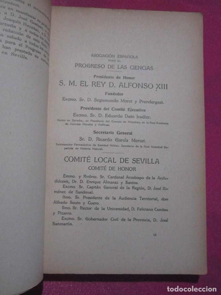 Libros antiguos: GUIA DE SEVILLA DEDICADA A LOS CONGRESISTAS POR EL COMITE CENTRAL 1917 - Foto 6 - 222400177
