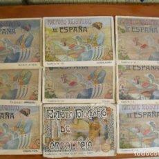 Libros antiguos: LOTE DE 9 PORTFOLIO FOTOGRAFICO DE ESPAÑA DE PRINCIPIOS SIGLO XX. Lote 222538047