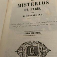Libros antiguos: LOS MISTERIOS DE PARÍS TOMO SEGUNDO , M. EUGENIO SUE, 1846. Lote 222666886