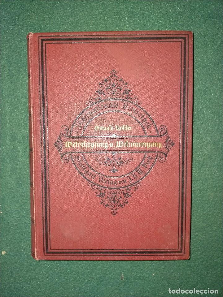 ANTIGUO LIBRO GEOGRAFÍA EN LENGUA ALEMANA. STTUGART 1893 (Libros Antiguos, Raros y Curiosos - Geografía y Viajes)