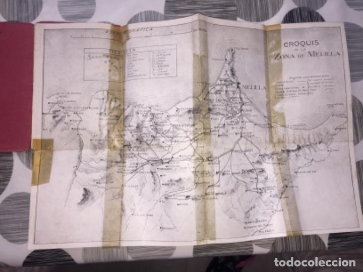 Libros antiguos: Nuevo croquis de la zona de Melilla. 1924 - Foto 2 - 222966240