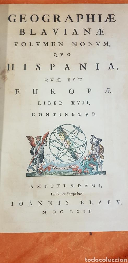 Libros antiguos: HIspania geografia blaviana.IOANNIS BLAEV. - Foto 2 - 223384615