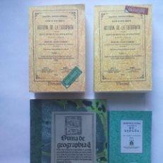 Libros antiguos: 4 LIBROS FACSÍMILES RELATIVOS A LA GEOGRAFÍA Y LOS DESCUBRIMIENTOS GEOGRÁFICOS (1519-1878). ENCISO. Lote 222865797
