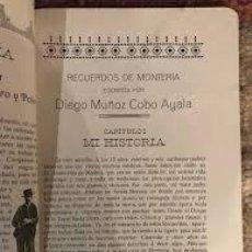 Libros antiguos: CAZA RECUERDOS DE MONTERIA MUÑOZ-COBO AYALA, DIEGO. Lote 276962693