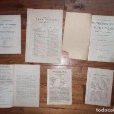 Libros antiguos: LOTE TEXTOS E ÍNDICES DE 6 ATLAS ALEMANES E INGLESES DEL SIGLO XIX.. Lote 227259545