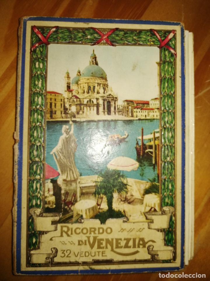 RICORDO DI VENEZIA. GUÍA CON POSTALES DE VENCIA. 32 POSTALES.VER FOTOS. MAPA DE VENECIA.W. (Libros Antiguos, Raros y Curiosos - Geografía y Viajes)