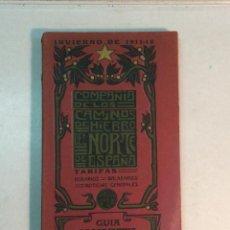 Libros antiguos: COMPAÑÍA DE LOS CAMINOS DE HIERRO DEL NORTE DE ESPAÑA. INVIERNO DE 1911-12. Lote 227988485