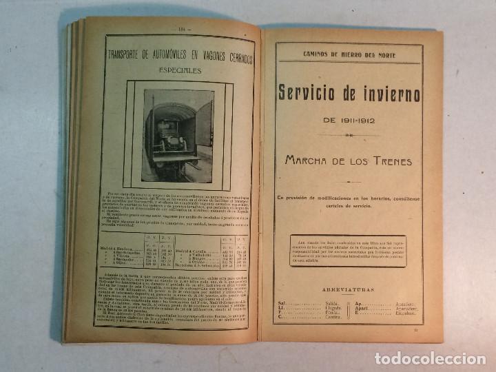 Libros antiguos: Compañía de los caminos de hierro del Norte de España. Invierno de 1911-12 - Foto 8 - 227988485