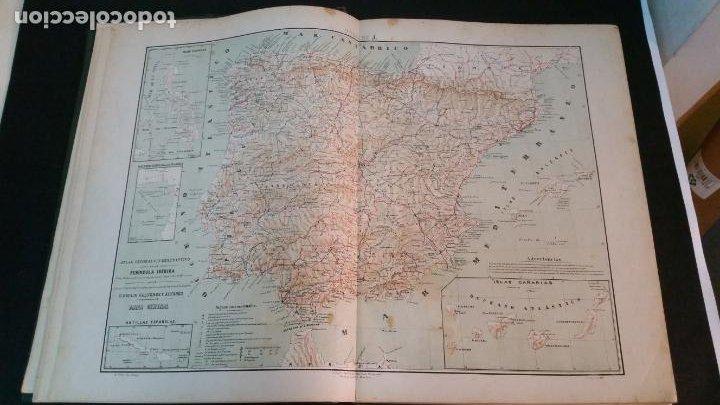 Libros antiguos: 1880 - VALVERDE Y ÁLVAREZ - Atlas geográfico descriptivo de la Península Ibérica, ETC. - completo - Foto 5 - 230191665