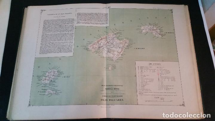 Libros antiguos: 1880 - VALVERDE Y ÁLVAREZ - Atlas geográfico descriptivo de la Península Ibérica, ETC. - completo - Foto 10 - 230191665