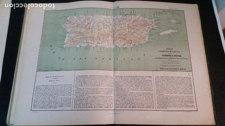 Libros antiguos: 1880 - VALVERDE Y ÁLVAREZ - Atlas geográfico descriptivo de la Península Ibérica, ETC. - completo - Foto 12 - 230191665