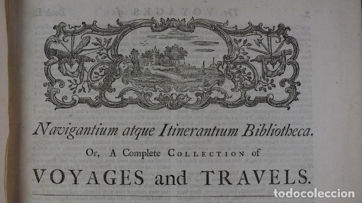 Libros antiguos: Navigantium atque Itinerantium Bibliotheca..., tomo 2, 1764. John Harris. Grandes grabados - Foto 5 - 234741610